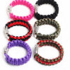 High Quality Metal Buckle Woven Paracord Bracelet (PB-1478)