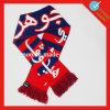Cheering Jacquard Sport Soccer Scarf with Fringe