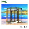 Royal Automatic Glass Revolving Door with Gold Color