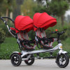 2016 New Design Twins Kids Tricycle, Push Stroller