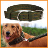 Army Green Nylon Double-Breasted Large Dog Pet Collar