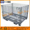 Folded Stacked Steel Wire Mesh Pallet Container Cage Storage Pallet Basket Box Container