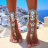 Fashion Designer Metal Alloy Diamond Rhinestone Crystal Anklet Jewelry