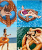 OEM PVC Inflatable Floating Toy with Bread Shaped