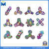 Colorful Rainbow Metal Finger Toys Zinc Alloy Fidget Hand Spinners