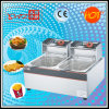 Df-89 2 Tanks 2 Baskets Fryer with Oil for Wholesale