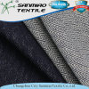 Fashion 330GSM Indigo Twill Knitted Denim Fabric for Pants