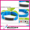 Health Carbon Fiber Silicone Bracelet with Magnet and Germanium Stones