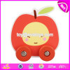 Wholesale Cheap Apple Shape Baby Toddlers Toys Wooden Toy Wheels W04A344