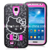 Mobile Phone Case 3-Piece Hybrid High Impact Hello Kitty Pattern Case Cover for Samsung Galaxy S4 I9500 Free Shipping