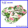 PE Girls Slipper with Tropical Plant Photo Printing