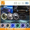 High Low Beam CREE Halo Ring LED Headlight for Jeep