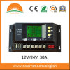 (HM-30A) China Best Price 12V/24V30A LCD Display Solar Charge Controller