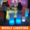 Waterproof PE Plastic LED Light Bar Stool Chair