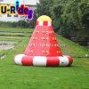 OEM / ODM 0.9mm PVC Tarpaulin 3 Sides Climbing Wall Inflatable Iceberg