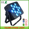 12PCS Rgbawuv 15W Battery Operated LED Light with 6in1 LED