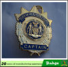 Gold Plated New York Police Captain Badge