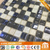 Convex White and Plating Black, 8mm Thickness, Glass Mosaic (G823044)