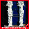 Roman Column with Stone Marble Granite Sculpture