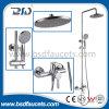 Chrome Bathroom Bath Rainfall Shower Head Brass Shower Set