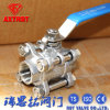 Thread Ends Full Port Floating Ss304/Ss316 3PC Ball Valve
