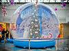 Inflatable Human Snow Globe with Printing Backdrop