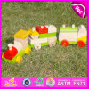 2015 Hot Sale Wooden Pull Truck Toy Set, Preschool Wooden Pull Truck Toy, Educational Toy Truck Pull Set W05c032