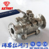 3PC Stainless Steel Clamp Floating Ball Valve