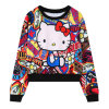 Ladies Harajuku Cropped Sweatshirt Women (ELTSTJ-748)