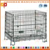 Metal Foldable Warehouse Wire Mesh Container Steel Storage Cage (Zhra13)