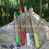 environmental Painting Round Handle Bamboo Toothbrush for Family