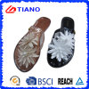 Delicate and Fashion PVC Outdoor Flip Flop with Water Lily Decoration (TNK35728)