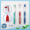 Soft Rubber Handle with Gum Massager Nylon Toothbrush