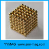 High Quality Gold Coating Magnetic Balls 5mm Set 216 Neo Cube