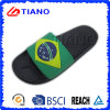 Fashion Design with Rubber Patch Indoor Slipper for Man (TNK35769)