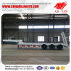 Tri-Axle Low Flatbed Semi Trailer with Hydraulic Ladder