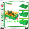 Supermarket Collapsible Plastic Foldable Vegetable Crate