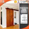Sliding Patio Door for High-End Villa, Solid Wood Barn Interior Door, Lifting Wheel Door, Sliding Door with Top Track, Slinding Door with Grille Design