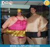 Adult Sumo Inflatable Costume Wrestler Airblown Easy Fat Suit