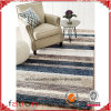 New Luxurios Country Style Blue Beige Strip 5*8 Shaggy Rug Area Rug Carpet