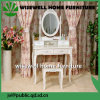 European Bedroom Furniture White Dressing Table with Mirror (W-HY-017)