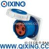 IP67 Waterproof Concealed Industrial Socket / Female Plug 32A 400V for Panel Mounted