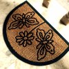 Embossing Engraving Molded Durable Rubber Backing Entryway Coco Coir Coconut Fiber Door Mats