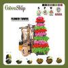 Decorative Round Plastic Flower Planter Tower