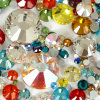 Iron on Crystal Hot Fix Rhinestones in Bulk Crystal Flat Glass Stones Wholesale