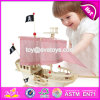 New Design Children DIY Wooden Pirate Ship Toy W03b056