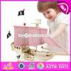 New Design Children DIY Wooden Pirate Ship Toy W03b056