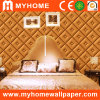 Leather Bedroom Wallpaper with PVC Foaming