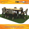 School Children Wooden Table with Stainless Steel Table Leg (IFP-031)