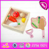 2015 Novelty Children Wooden Cutting Fruit Toy, Wooden Cutting Toys&Play Fruit, Green Paint Wooden Pretend Cut Fruit Toy W10b110